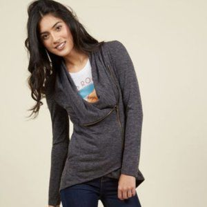 NWOT Modcloth Airport Greeting Cardigan in Gray